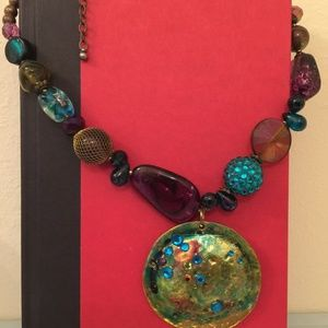 Jewelry - Gold Multi Color Stones Necklace